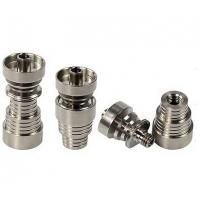 Wholesale HOT Universal Stripe Titanium Nail KR-07 Water Pipe Domeless 4 IN 1 14mm 19mm Male And Fem from china suppliers