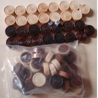 Wholesale Checkers Pieces in Black and Natural 1 inch dia wood game pieces from china suppliers