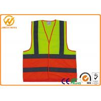 Wholesale Polyester Safe Reflective Strap Vest , Adjustable Custom High Visibility Vests  from china suppliers