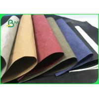 Eco - friendly Brown Black Washable Kraft Paper Roll For Shopping Bags for sale