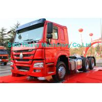 Wholesale Red 40 Ton 6x4 Prime Mover Trailer Truck Diesel 336HP , EURO II Standard , Global Machine from china suppliers