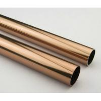 Wholesale Golden Round Anodized Aluminum Tube , Dark Bronze Anodized Aluminum Finished Tubing from china suppliers