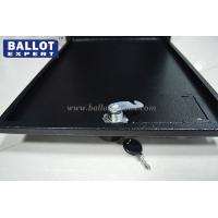 Quality Opaque Metal Ballot Box Steel Lockable Black Squeezing Resistant for sale