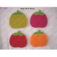 Wholesale Coaster Stitch fruit design wool felt coaster from china suppliers
