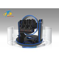 Wholesale Triple Seats 9D VR Virtual Reality Dynamic Theater 720 Degree Rotation VR Simulator Ride from china suppliers