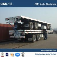 China frame semitrailer 3 axle 40'  trucks and trailers vehicle flat bed car trailer on sale