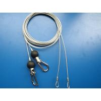 China 25mm Nylon Ball Steel Cable Assembly with Swivel Hooks And Loops on sale
