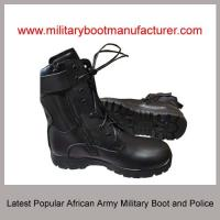 Wholesale Wholesale China made Latest African Army Police Worn Military Tactical Combat Jungle Officer DMS Cement  Boot Shoes from china suppliers