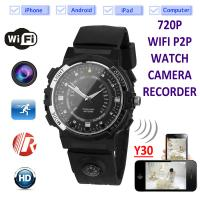 Buy cheap Y30 8GB 720P WIFI P2P IP Spy Watch Hidden Camera Recorder IR Night Vision Motion from wholesalers