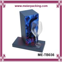 Wholesale goblet box, glass paper box packaging, rigid glass box with blue silk insert ME-TB036 from china suppliers