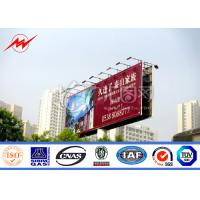 Wholesale Multi Color Roadside Outdoor Billboard Advertising , Steel Structure Billboard from china suppliers