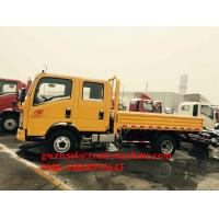 Wholesale Sinotruck Howo Double Cabin Light Duty Commercial Trucks With 110HP Engine from china suppliers