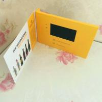 Quality Hard Cover Matt / Glossy A4 Lcd Invitation Video Card ,  Video Brochure With Muti Player for sale