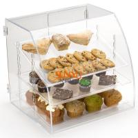 Wholesale Acrylic Food Display Case Irregular 300pcs with 3 Plastic Trays Curved Front from china suppliers