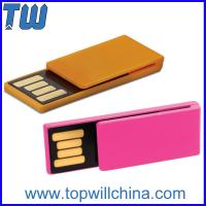 Slim Mini Plastic Noble Paper Clip Usb Flash Drives Delicate Design for Gifts