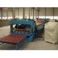 Full Automatic Control Villa Metal Roof Glazed Tile Roll Forming Machine Color