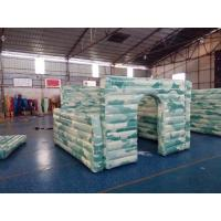 Wholesale Camouflage Inflatable Sports Games , Inflatable Paintball Bunker Broken Wall from china suppliers