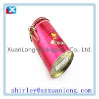 Wholesale Round Airtight Tin Box With Plastic Lid  www.xuanlongpackagingco.com from china suppliers