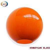 China Colored Globe glass pendant light cover on sale