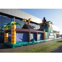 Wholesale Extreme Fun Inflatable Obstacle Course , 0.55mm PVC Obstacle Course Bouncer from china suppliers