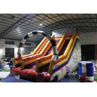 Wholesale 0.55mm Pvc Material Giant Kids / Adult Inflatable Slide Commercial Fire Resistant from china suppliers