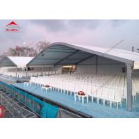 Wholesale Big Outdoor Exhibition Tents With Half PVC Walls , 20m Width Arcum Tent from china suppliers