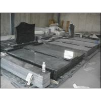 China Absolute Black Granite, Shanxi Black, Mongolian Black Granite Tombstone on sale