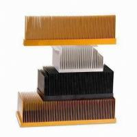 Wholesale T4 , T5 Clear Smooth Aluminum Heatsink Extrusion Profiles With Wood Chromizing / Chromising from china suppliers