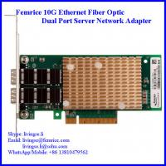 China 10G 2 Port Fiber Optic Network Lan Card Server Application NIC for sale