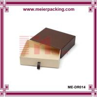 Wholesale High end sliding drawer brown rigid paper box with insert ME-DR014 from china suppliers