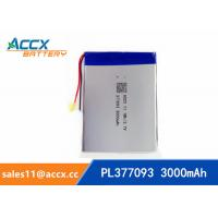 Wholesale 377093pl 377090pl 357090pl rechargeable 377093 357090 3.7v 3000mah lithium polymer battery for mobile phone, tablet PC from china suppliers