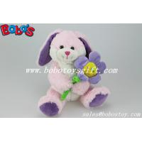 Quality Pink Bunny Stuffed Animal With Sun Flower As Valentine gifts for sale