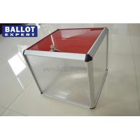 Quality Transparent Acrylic Ballot Box Floor With Lock For Election Campaign for sale