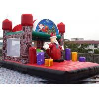 Buy cheap Jungel Inflatable Toddler Playground , Santa Claus House Outdoor Bouncy Castle from wholesalers