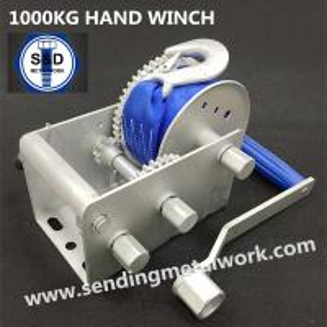China 1500kg Hand Winch Strap/Webbing/Dyneema Rope 2speed- Boat Car Marine Trailer on sale