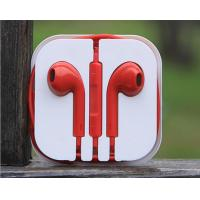 Wholesale Earphone with Volume control and Mic for Iphone, Ipad, Ipod, Red Color from china suppliers