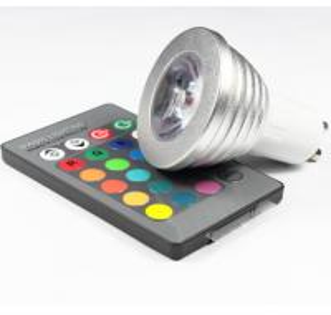 Wholesale 3W RGB LED COB Spotlights bulbs RGB led remote controller lathe aluminum housing GU10 E27 from china suppliers