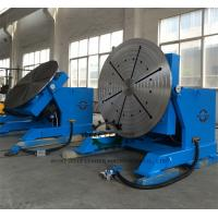 China 2 Ton Tube Table Top Welding Positioners , Tiltable Rotary Table For Welding on sale
