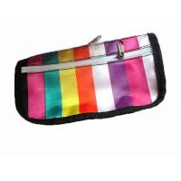 Wholesale Customized vertical stripe travel cosmetic bags and cases for cosmetic party from china suppliers