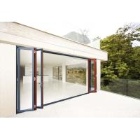 China Single Aluminium Sliding Folding Doors With Glass 2.0mm thickness on sale