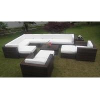 Wholesale Big Size Sectional Rattan Outdoor Sofa Set Garden Furniture With Comfortable Cushion from china suppliers