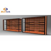 Wholesale Stainless Steel Spice Wood Display Rack Wall Mounted Wood Shelving Units For Shops from china suppliers