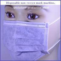 Wholesale Fully Automatic 3 Layer Inner Loop Medical Face Mask Machine (1+2) from china suppliers