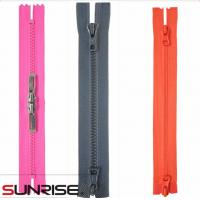 Wholesale plastic zipper long chain open end auto-lock color zipper from china suppliers