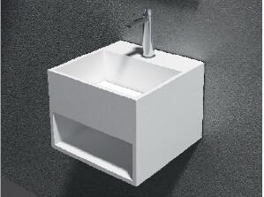 China Artificial Stone Wall Hung Wash Hand Basin For Bathroom Vanity Top on sale