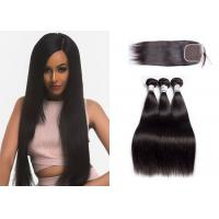 Wholesale 100% Human Hair Weave Bundles With Closure Multiple Hair Textures No Shedding from china suppliers