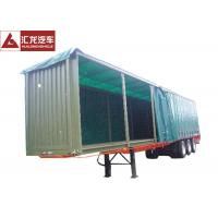 China Aluminum Rails Curtain Side Trailer  π Hook Shape Water - Proof Covering Material on sale