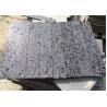 Hainan Black Travertine Natural Stone Tile / Black Lava Stone Tiles Cut - To - Size for sale