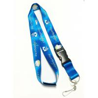 Wholesale Colorful Shiny Flat Nylon Personalised Neck Strap With Velcro / Safety Buckle from china suppliers