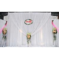 China wedding hall decoration with flowers games event backdrop price pipe and drape fabric on sale